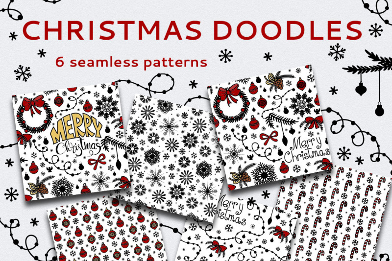 Christmas Seamless Patterns By Elionorka Thehungryjpeg Com