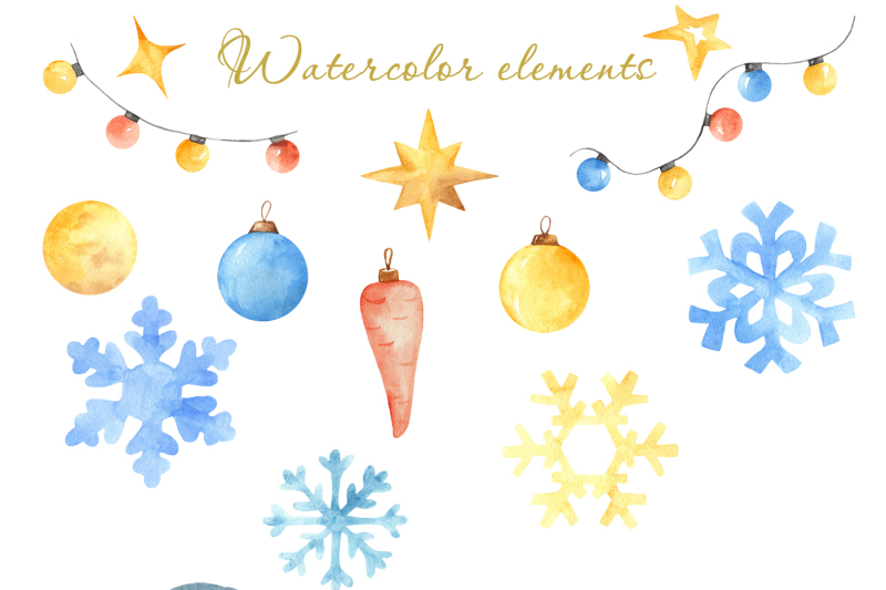 winter-snow-mood-watercolor-handpainted-collection