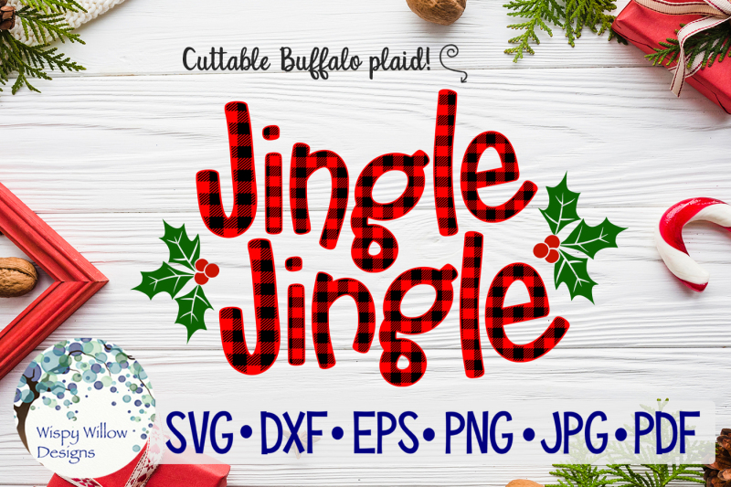 jingle-jingle-christmas-buffalo-plaid-svg