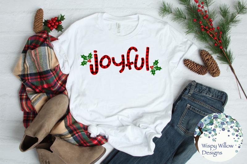 joyful-christmas-buffalo-plaid-svg