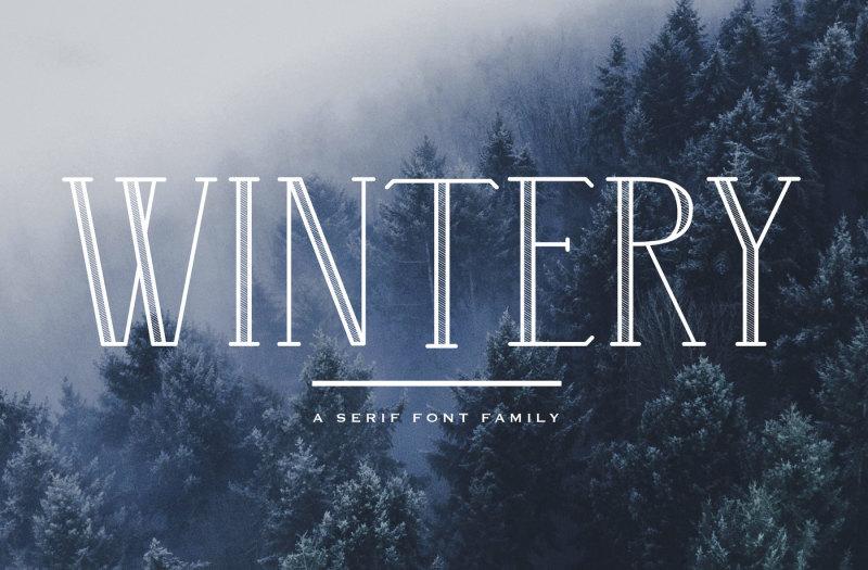 wintery-a-serif-font-family