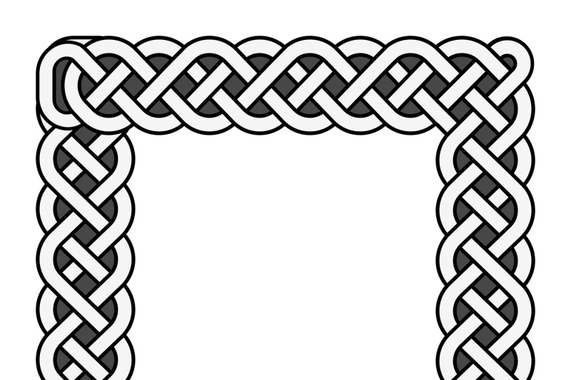 square-celtic-knots-vector-medieval-frame-in-black-and-white