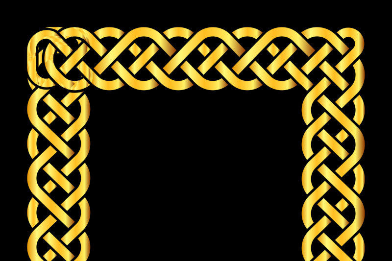 square-golden-celtic-knots-vector-frame