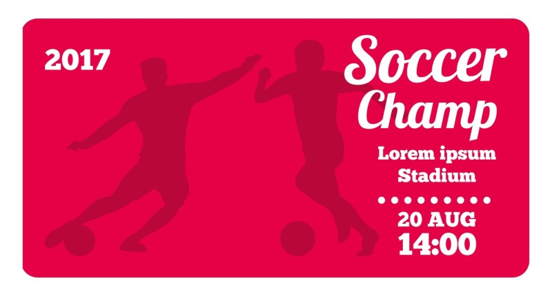 red-horizontal-football-soccer-vector-poster-template