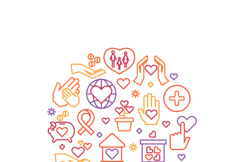 charity-care-help-vector-concept-nonprofit-and-volunteer-logo