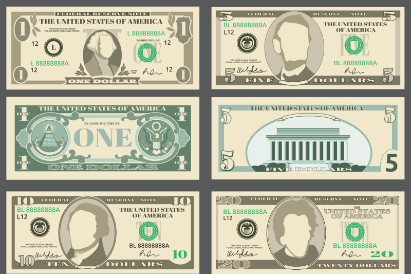 dollar-banknotes-us-currency-money-bills-vector-set