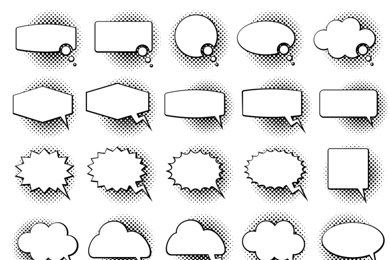 empty-monochrome-speech-comic-text-bubbles-with-halftone-dot-shadow-ef