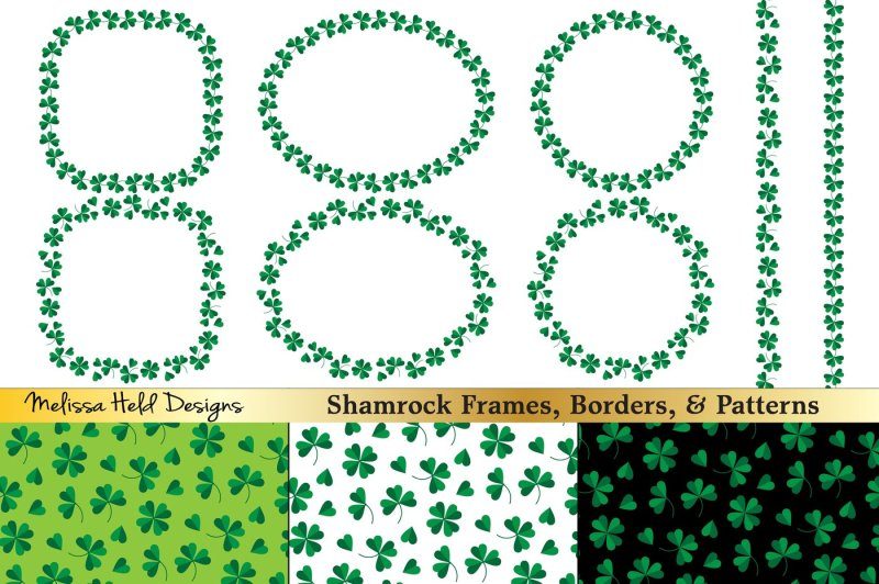 shamrock-frames-and-patterns