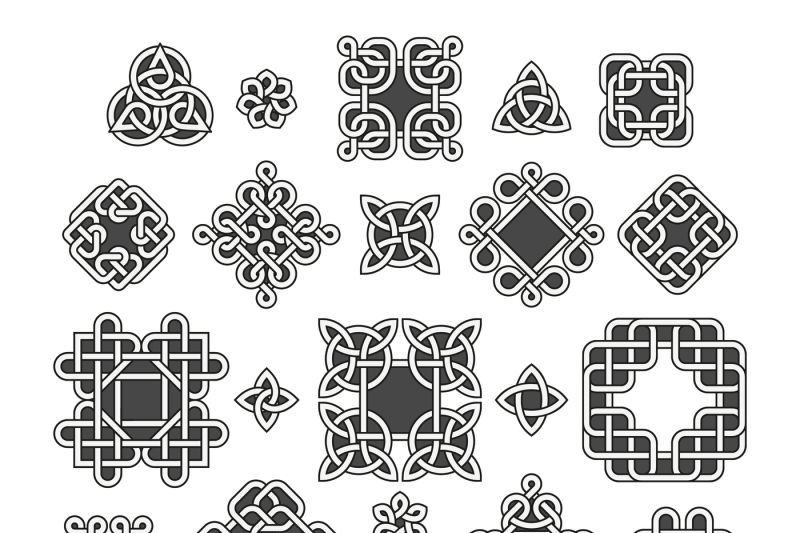 chinese-and-celtic-endless-knots-patterns-vector-set