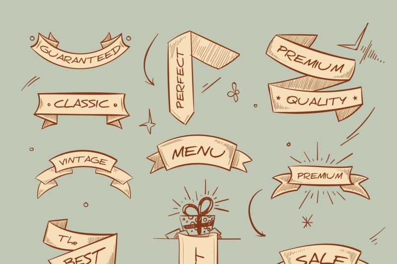 doodle-retro-ribbon-banners-with-hand-drawn-retail-selling-messages-ve