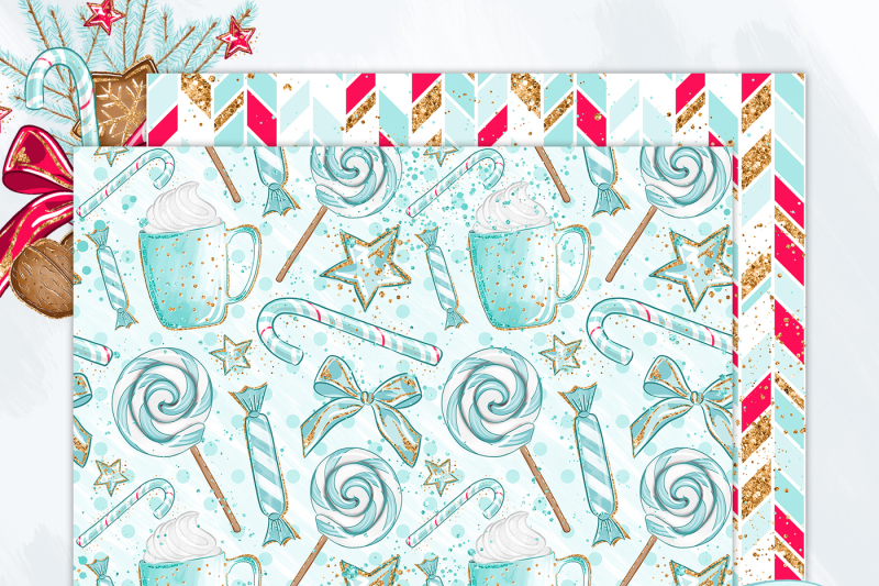 christmas-gingerbread-digital-paper-pack