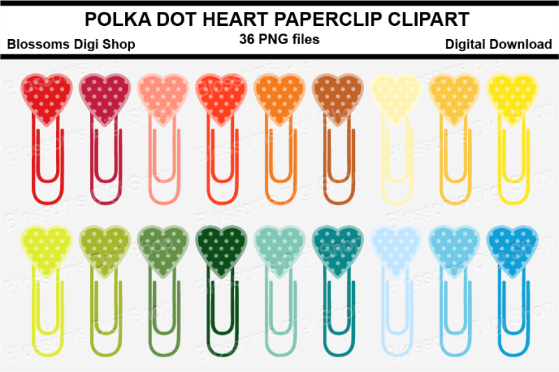 polka-dot-heart-paper-clips-clipart-multi-colours-36-png-files