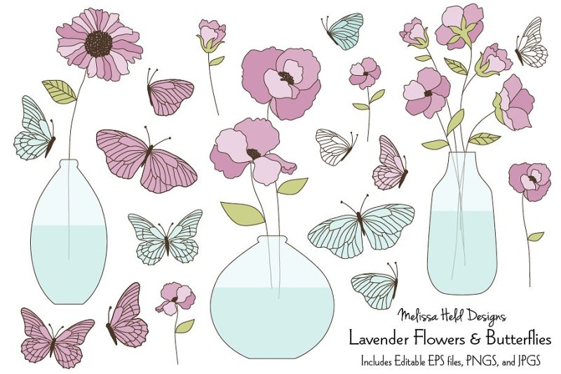 lavender-flowers-and-butterflies