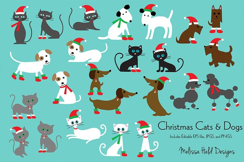 christmas-cats-and-dogs-clipart