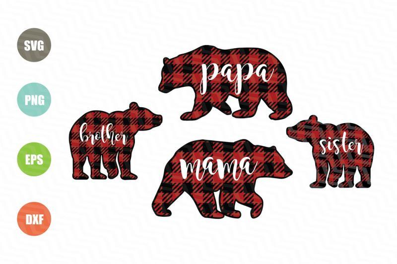 bear-buffalo-plaid-svg