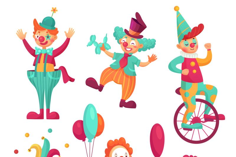 circus-clowns-cartoon-clown-comedian-juggling-funny-clowns-nose-or-j