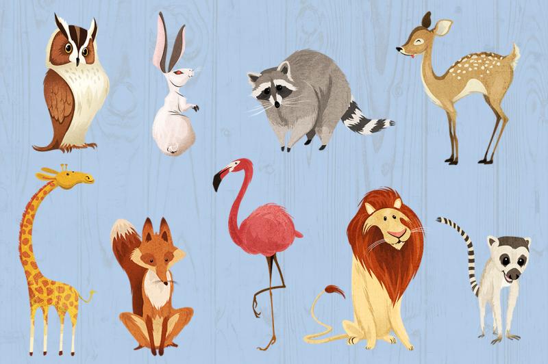 wild-animals-critter-friends-clipart