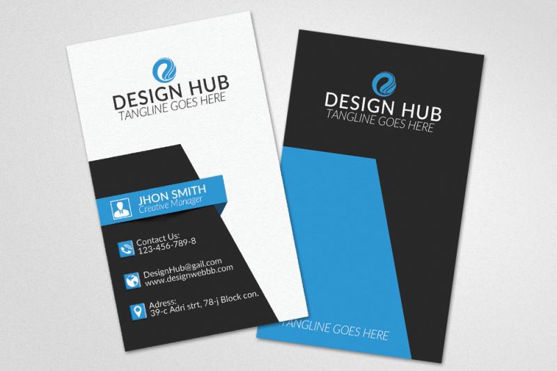 vertical-business-card-template