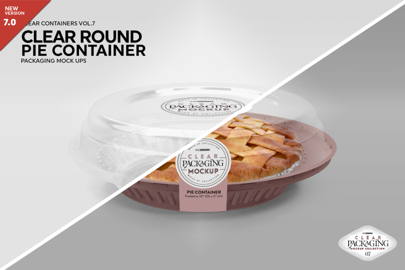 Free Clear Pie Container Packaging Mockup (PSD Mockups)