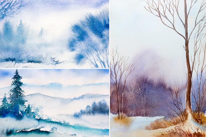 winter-landscapes-set-3-watercolor