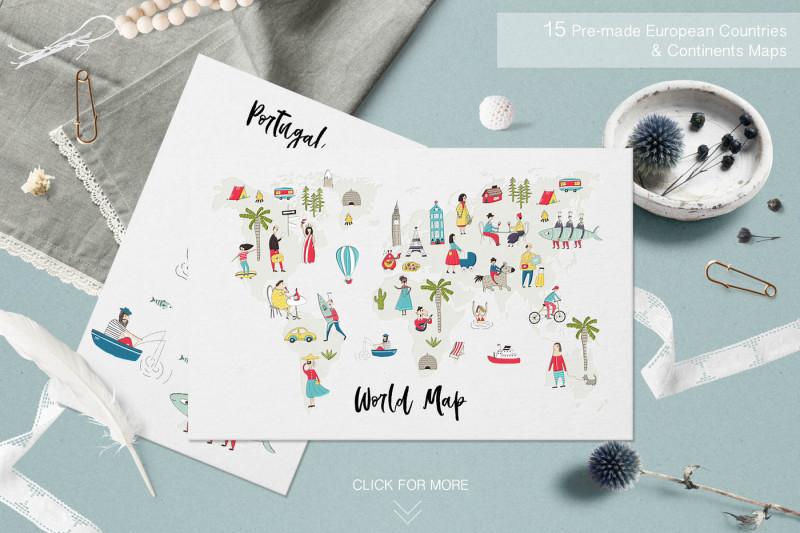 Map Creator By Oksana Stepova | TheHungryJPEG com