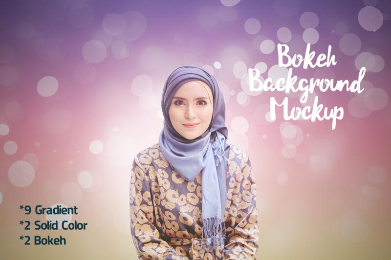 Free Mockup Bokeh Background (PSD Mockups)