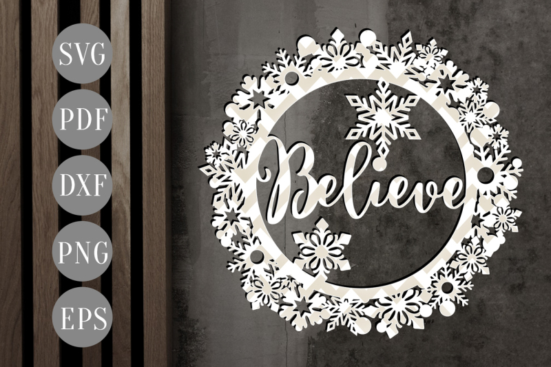believe-christmas-bauble-svg-xmas-ornament-papercut-template-dxf-pdf