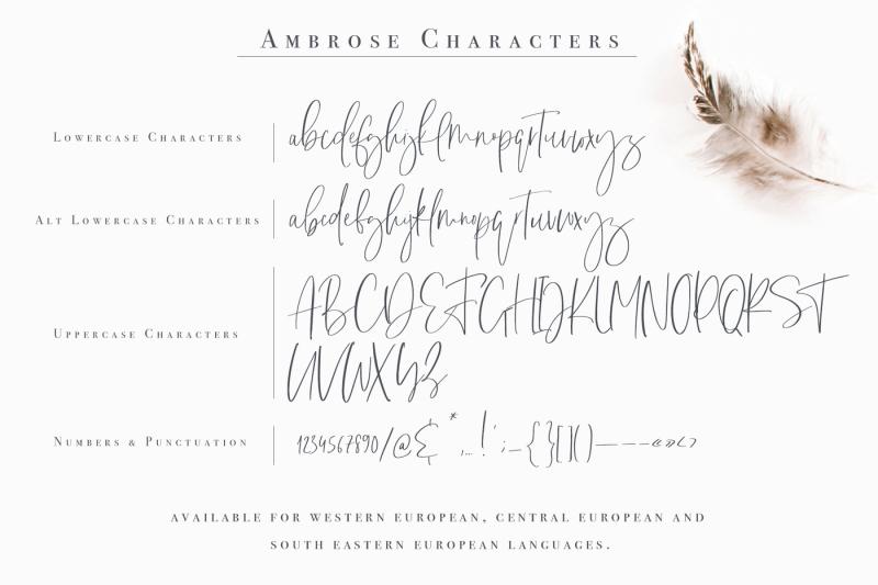 ambrose-font