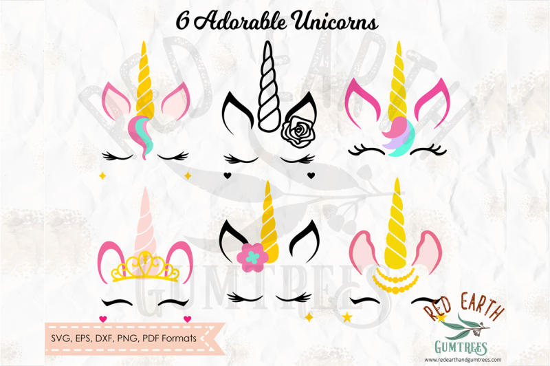 unicorn-bundle-unicorn-with-lashes-in-svg-png-eps-dxf-pdf-formats
