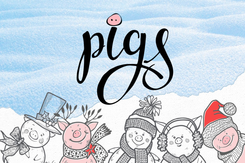 winter-pigs
