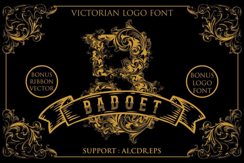 badoet-victorian-logo-fonts