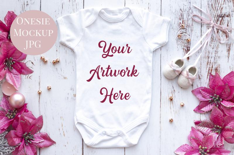 Free Babygrow, All-In-One, onesie, infant bodysuit Mockup Photo (PSD Mockups)