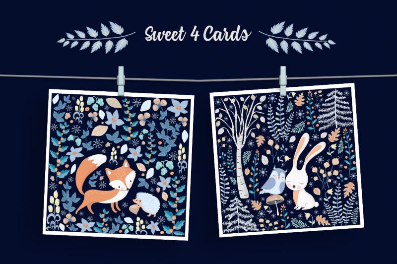 scandinavian-winter-illustration-set