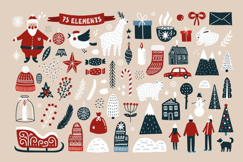 merry-christmas-scandinavian-set