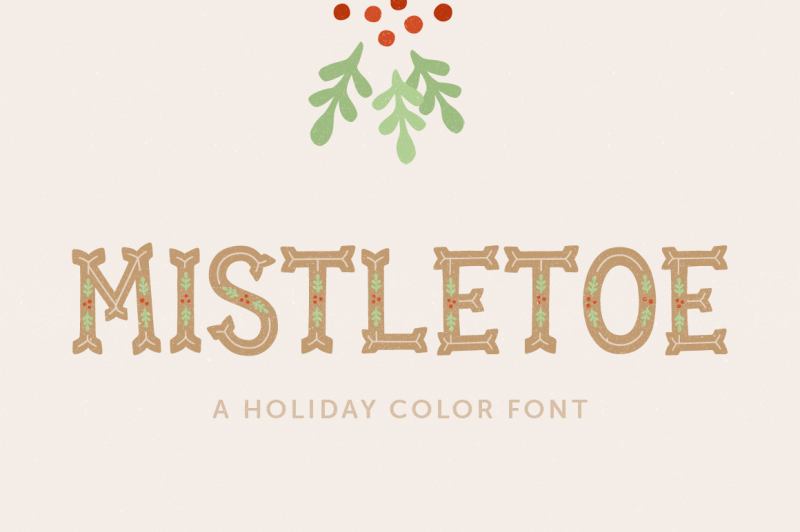 mistletoe-color-font
