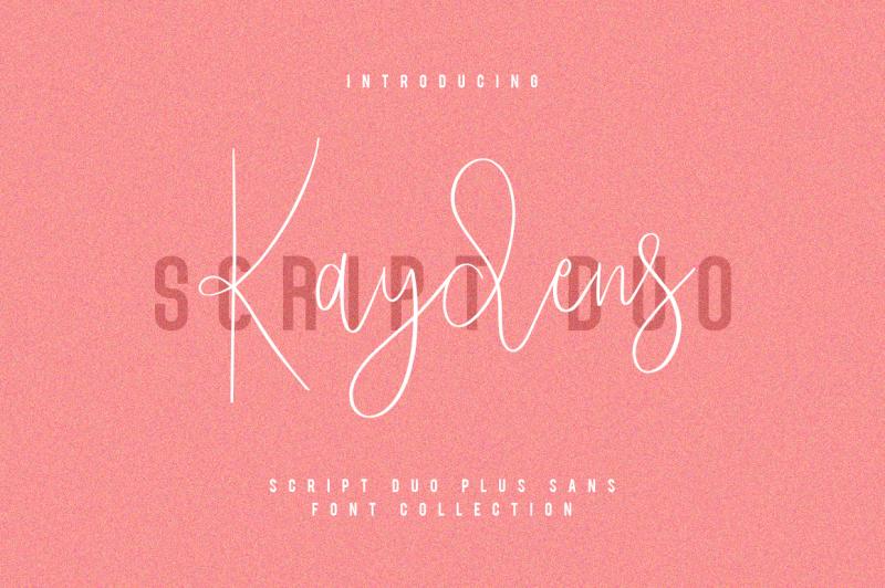 kaydens-script-font-collection