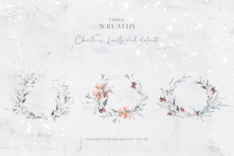 Winter Watercolors Alphabets By Eva Katerina Thehungryjpeg Com