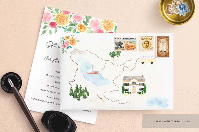 watercolour-wedding-map-creator-kit