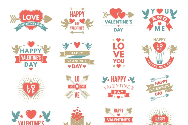 labels-and-symbols-of-loves-st-valentine-day-pictures-for-scrapbook-d