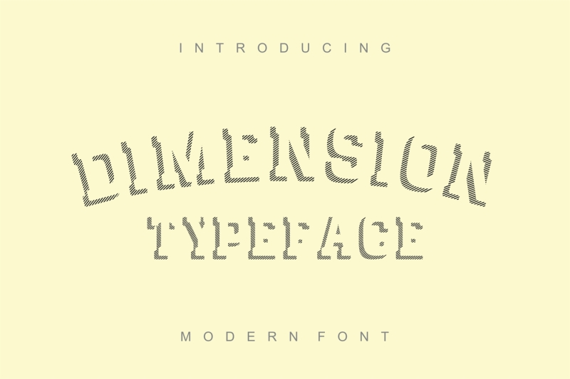dimension-striped-font