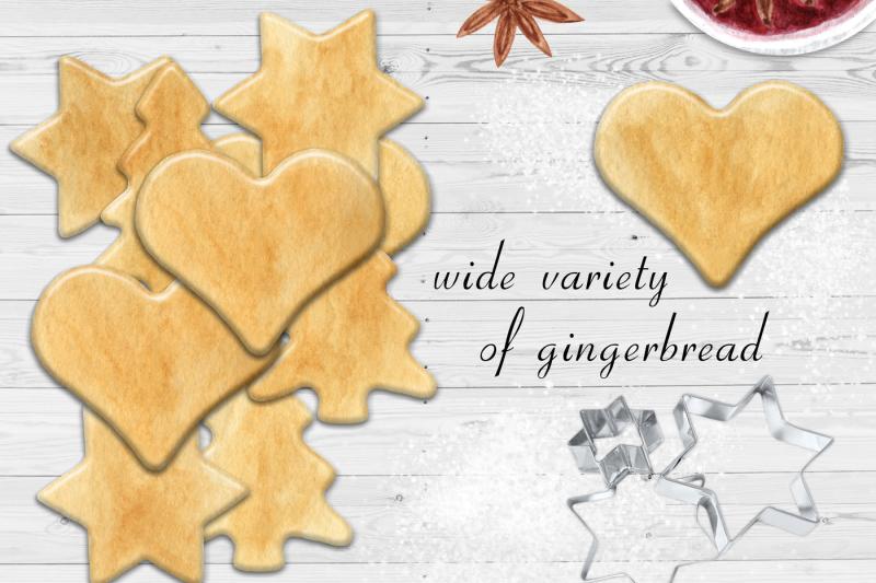 watercolor-gingerbread