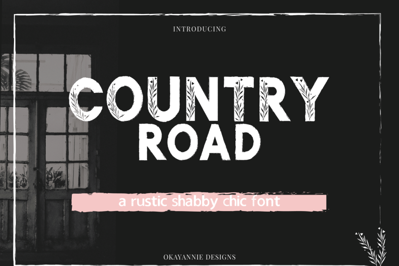 country-road-rustic-font