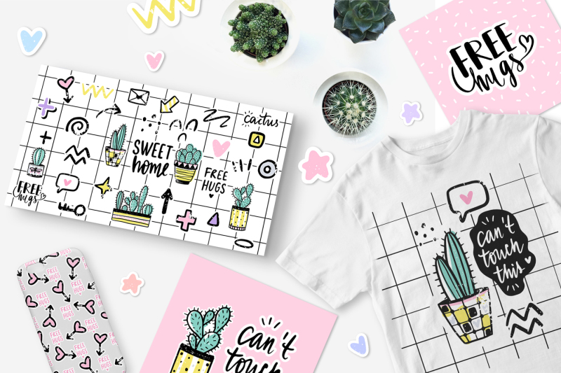 cute-cacti-set-stickers-patterns-lettering