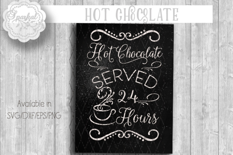 Hot Chocolate Svg Cutting Design By Sparkal Designs Thehungryjpeg Com