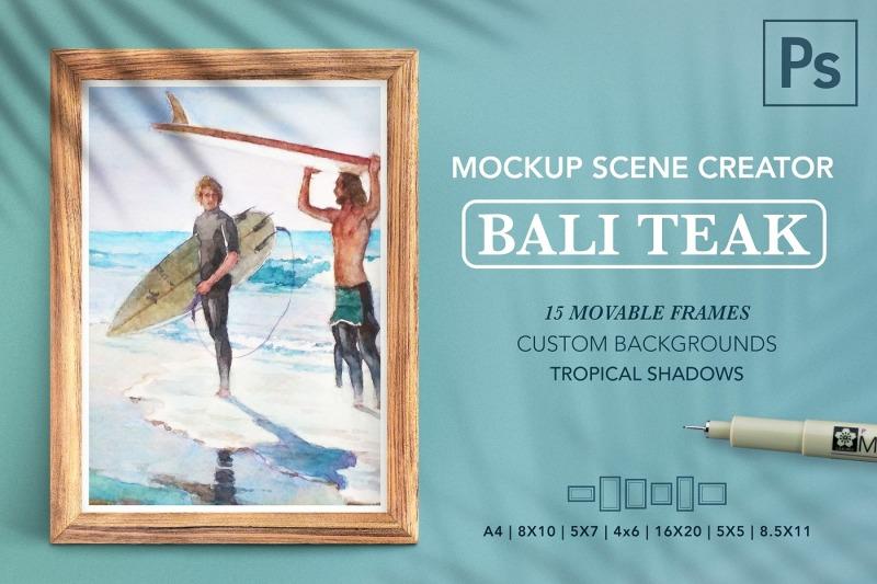 Free Teak 15 Frame Scene Creator BUNDLE (PSD Mockups)