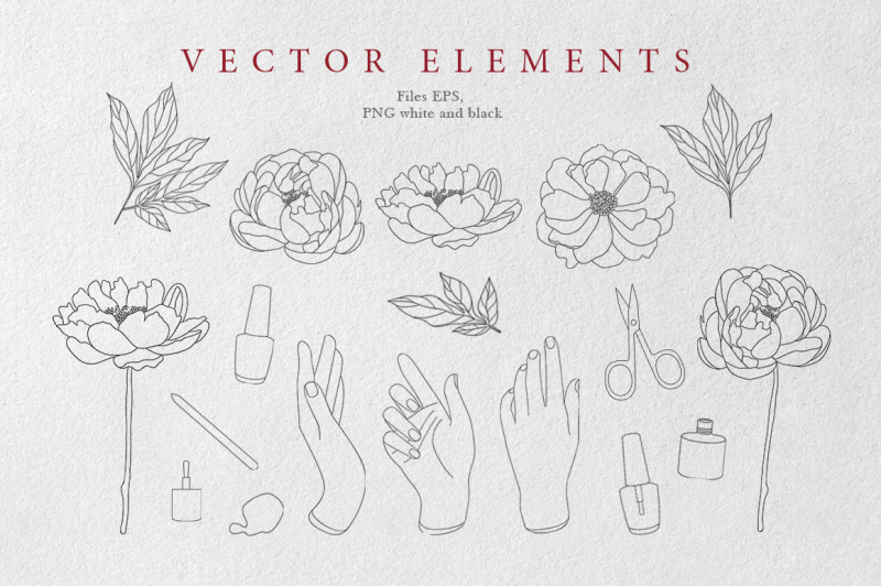peonies-and-manicure