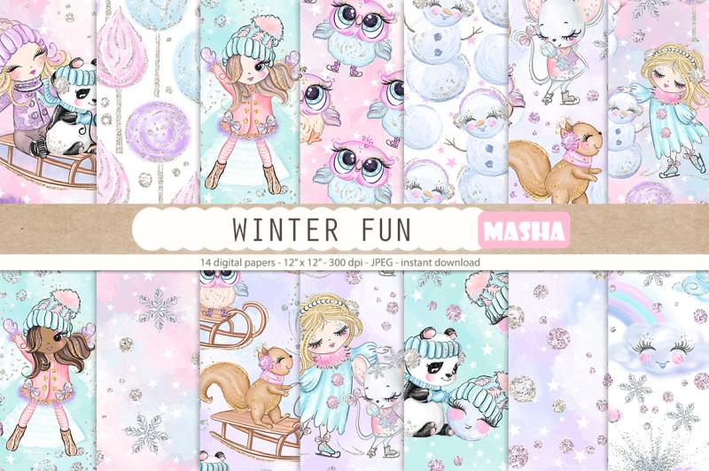winter-fun-digital-papers