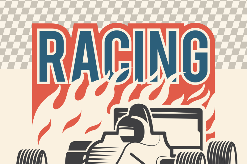 poster-or-placard-for-motosport-vintage-illustrations-of-racing-cars