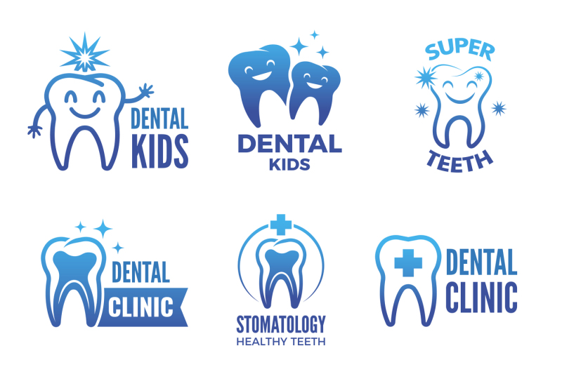 labels-and-logos-set-of-dental-theme-and-illustrations-of-healthy-teet