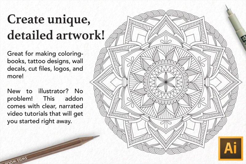 zentangle-mandala-creator-addon-for-illustrator